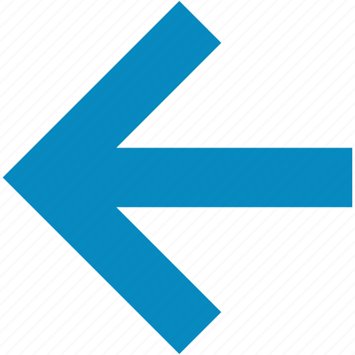 arrow, back, left, previous icon