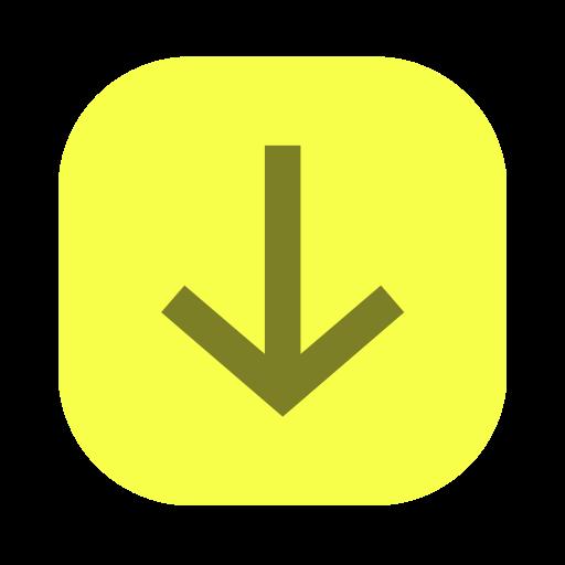 Arrow, down, down arrow, downward, long arrow icon - Free download
