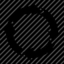 arrow, circle, following, link, next, rotating, syncing icon