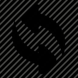 arrow, roading, shape, sign, sync, syncarrow icon