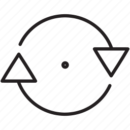 arrow, clockwise, direction, music, refresh, repeat, return icon