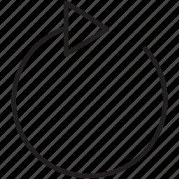 arrow, clockwise, music, refresh, repeat, return, street icon
