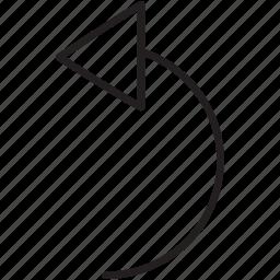 arrow, direction, left, refresh, return, turn icon