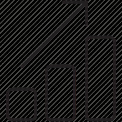 arrow, high, increase, profit, scale, stock, upward icon