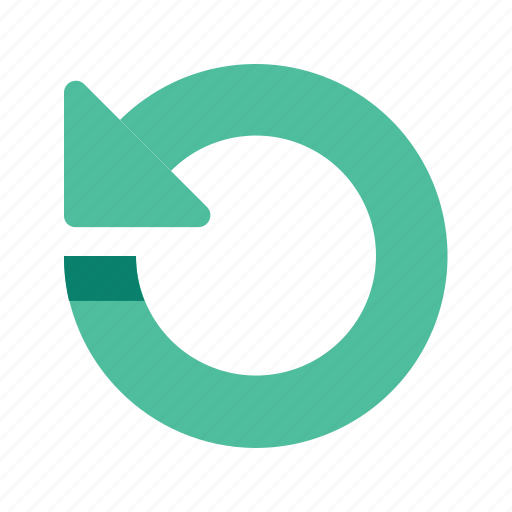arrow, direction, left, pointer, rotate, rotation icon