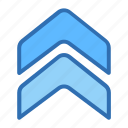 arrow, navigate, rise, up, upload icon