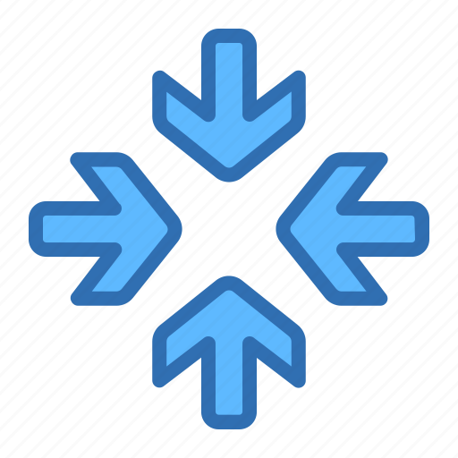 Direction, arrows, center, focus, meet, target icon - Download on Iconfinder