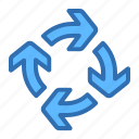 arrows, cycle, loop, recycle icon