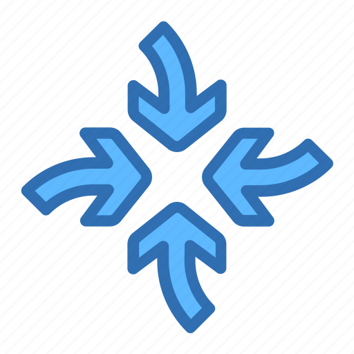 Direction, arrows, focus, meet, target icon - Download on Iconfinder