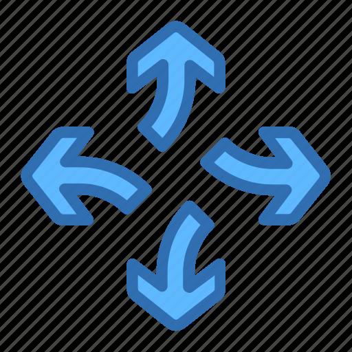 Direction, arrows, break, detach, divide, separate icon - Download on Iconfinder
