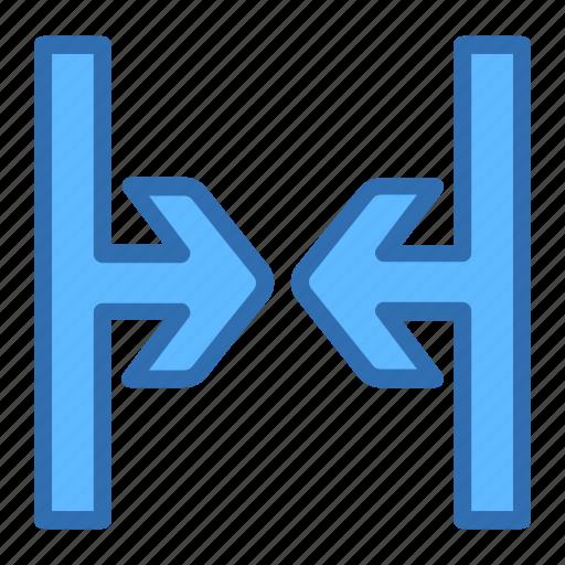 arrows, close, direction, shrink icon