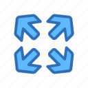 arrow, direction icon