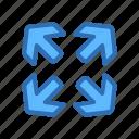 arrow, direction