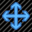 direction, arrows, expand, maximize, move, navigation
