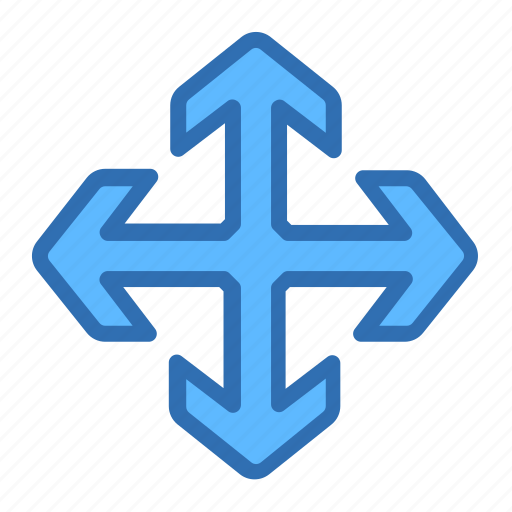 Direction, arrows, expand, maximize, move, navigation icon - Download on Iconfinder