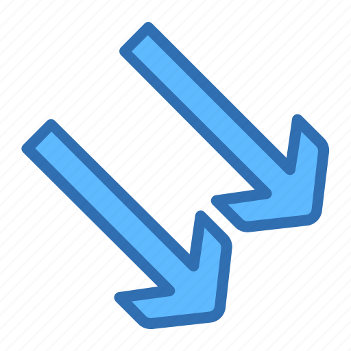 Arrow, down, diagonal, navigation, right icon - Download on Iconfinder
