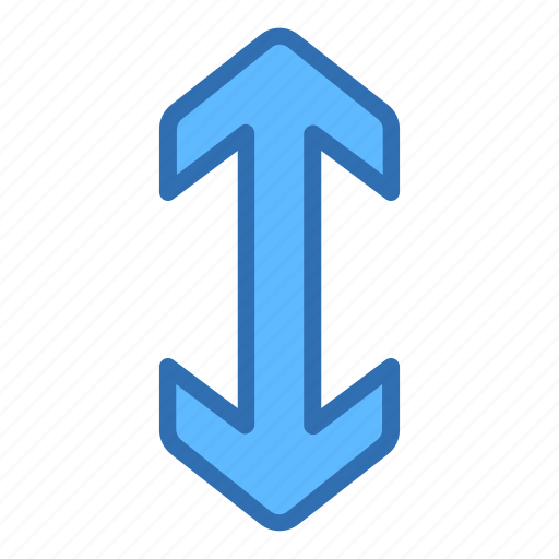 arrows, enlarge, expand, scale, vertical icon