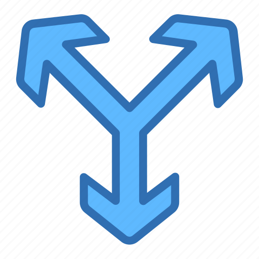 Direction, arrows, axis, move, three icon - Download on Iconfinder