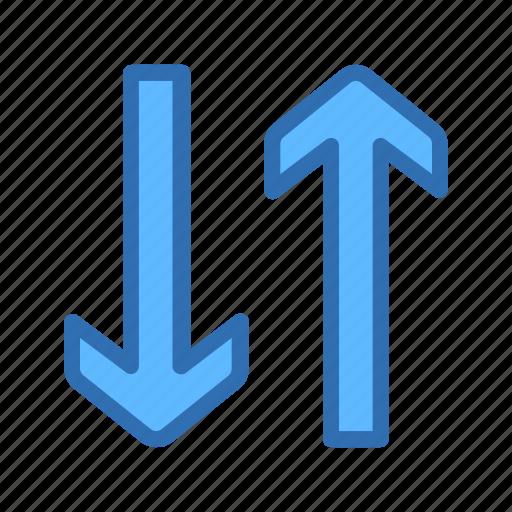arrow, exchange, swap, transfer, vertical icon