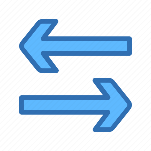 Arrow, exchange, horizontal, swap, transfer icon - Download on Iconfinder