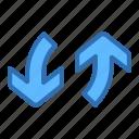 direction, arrows, exchange, vertical