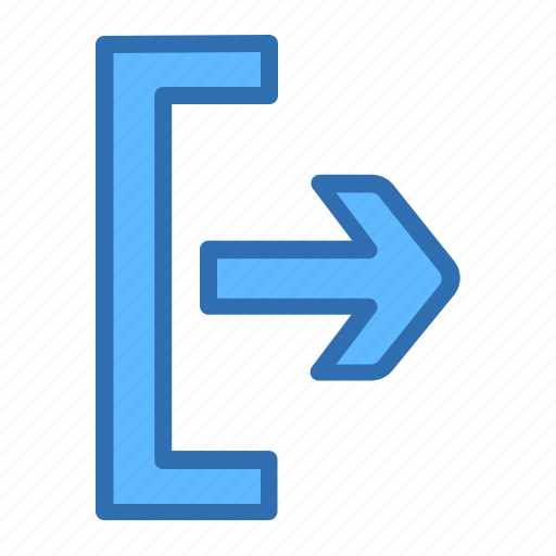 arrow, exit, outside, right icon