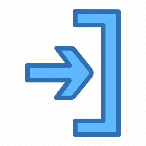 Arrow, right, access, enter, inside icon - Download on Iconfinder