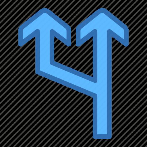 Up, arrows, line, split, traffic icon - Download on Iconfinder