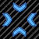 aim, arrows, focus, mark, pointer, target icon