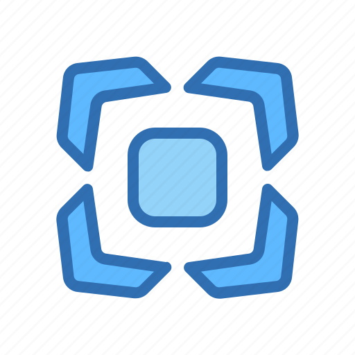 Direction, arrows, center, expand icon - Download on Iconfinder