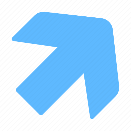 Arrow, diagonal, right, upper icon - Download on Iconfinder