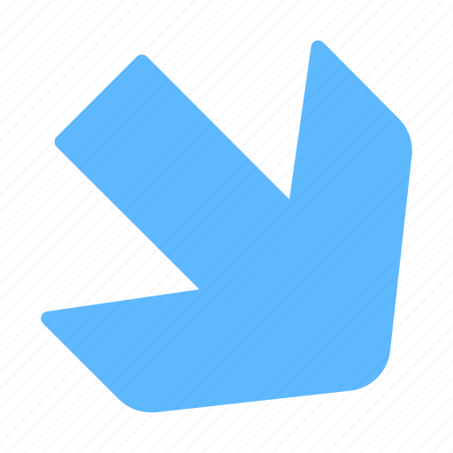 Arrow, down, diagonal, right icon - Download on Iconfinder