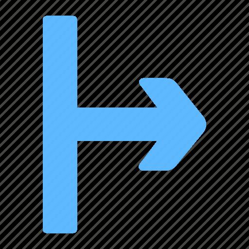 arrow, next, right, start, way icon