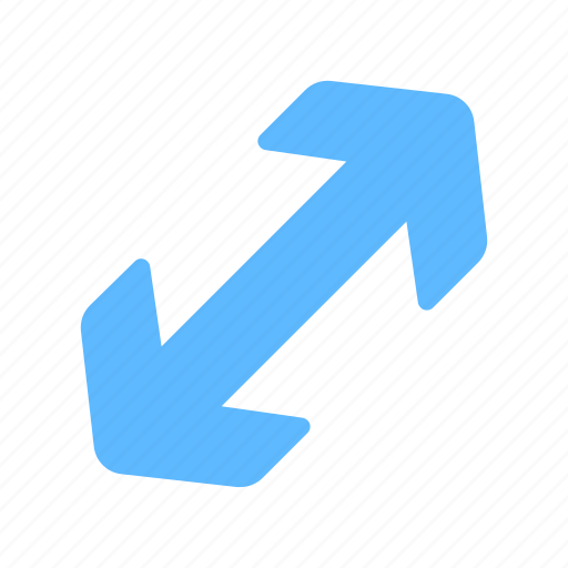 Direction, diagonal, expand, maximize, arrows icon - Download on Iconfinder