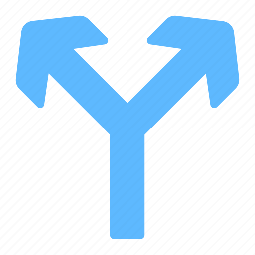 Direction, fork, road, arrows, up icon - Download on Iconfinder