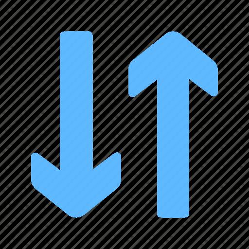 arrows, exchange, swap, transfer, vertical icon