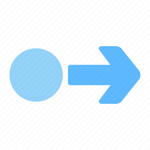 arrow, circle, direction, pointer, right icon
