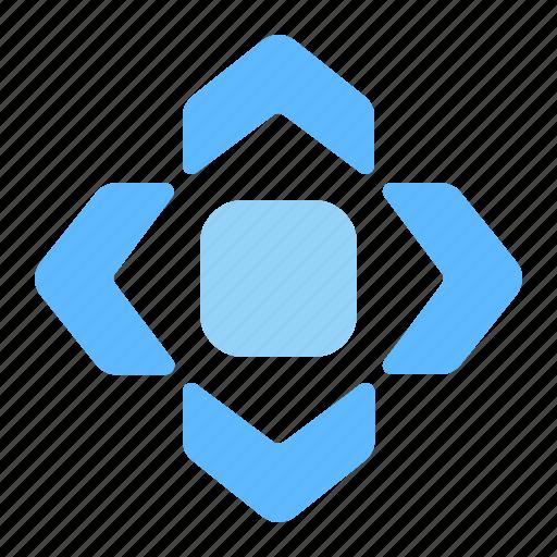 arrows, center, direction, expand, move icon