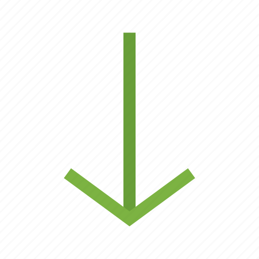 arrow, direction, down, indication, internet, navigation, sign icon