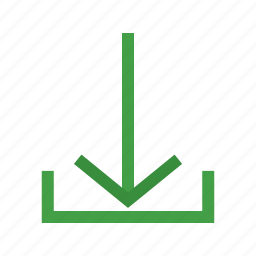 arrow, direction, down, download, internet, navigation icon