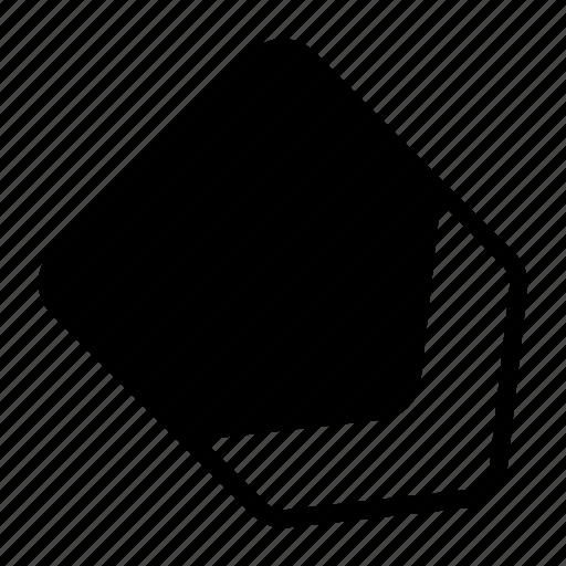 arrow, diagonal, down, location, marker, right icon
