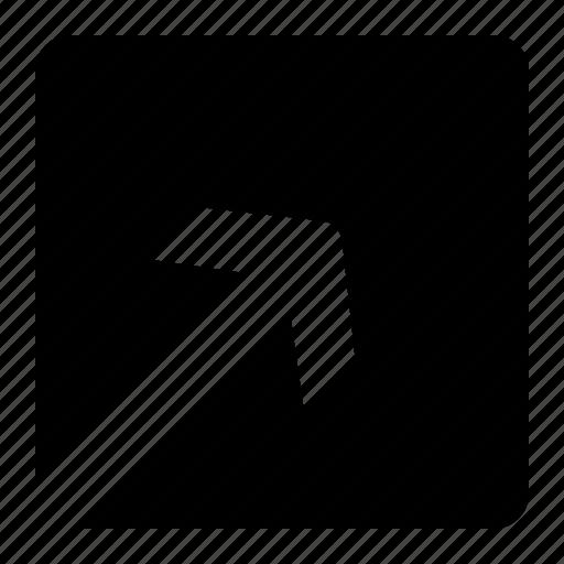 Arrow, up, corner, inside icon - Download on Iconfinder