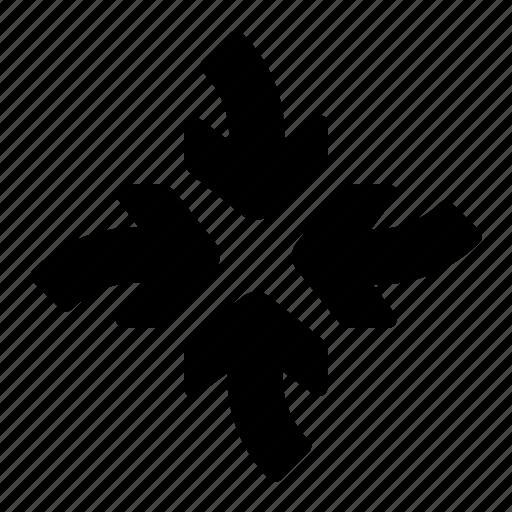 arrows, direction, focus, meet, target icon