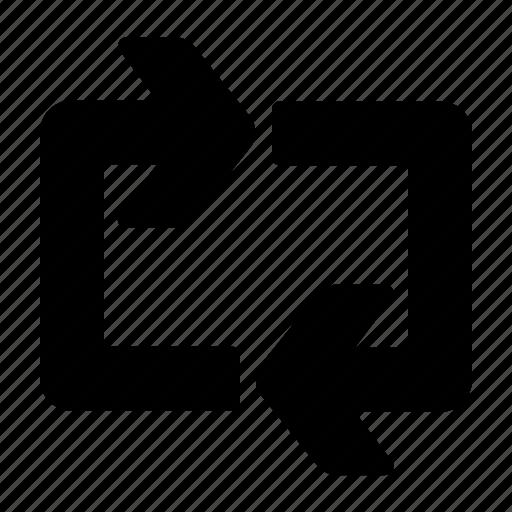 arrows, loop, repeat, sync icon