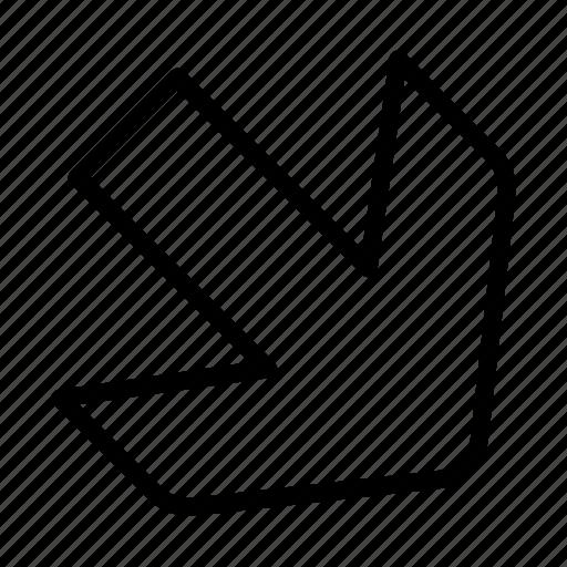 arrow, diagonal, down, right icon