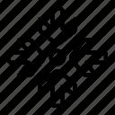 arrows, direction, center, epicenter, focus, target
