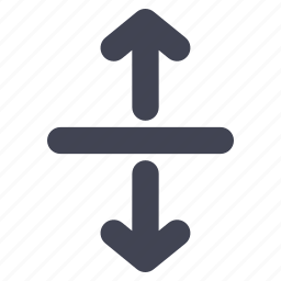 arrow, arrows, direction, down, line, up icon
