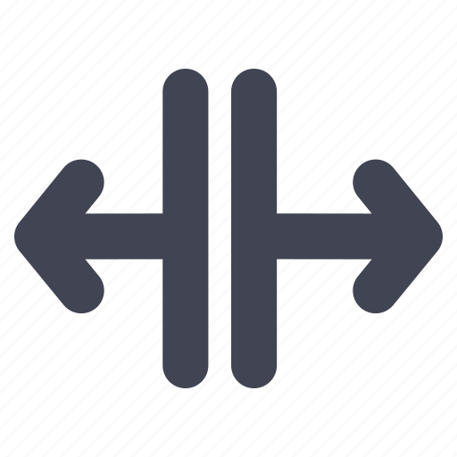 arrow, arrows, direction, left, lines, right, split icon