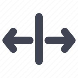 arrow, arrows, direction, left, line, right icon