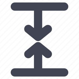 arrow, arrows, direction, down, line, meeting, up icon
